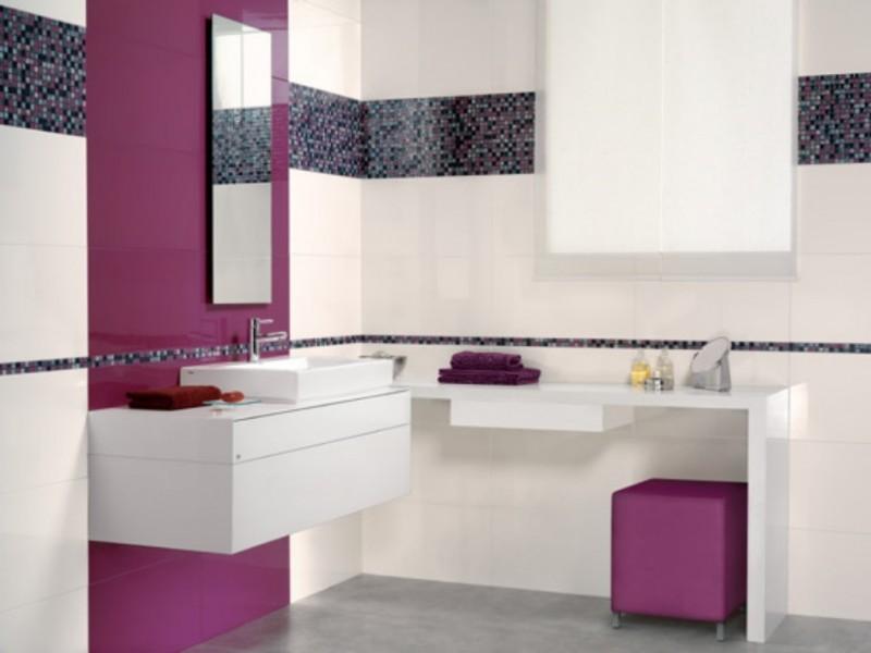 Catwalk faience moderne vente de carrelage saint for Carrelage salle de bain violet