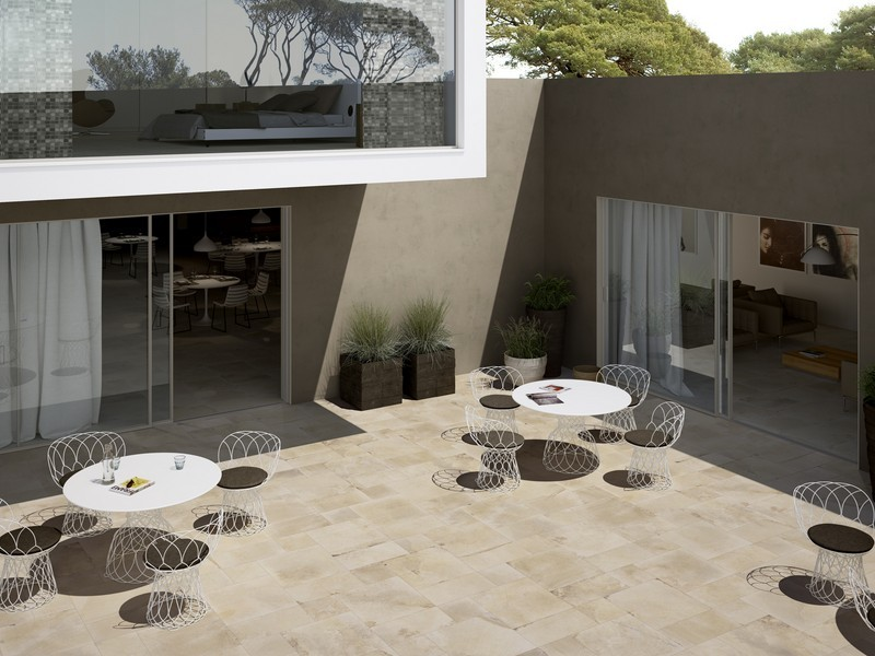Archistone carrelage gr s c rame pleine masse imitation for Carrelage exterieur terrasse imitation pierre