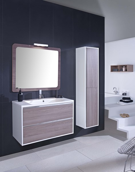 Meuble salle de bain design collection gales en promotion for Salle de bain rectangulaire 8m2