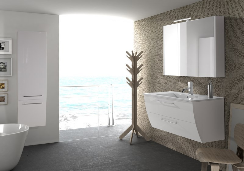 Meuble salle de bain design collection downtown marque for Marque de meuble
