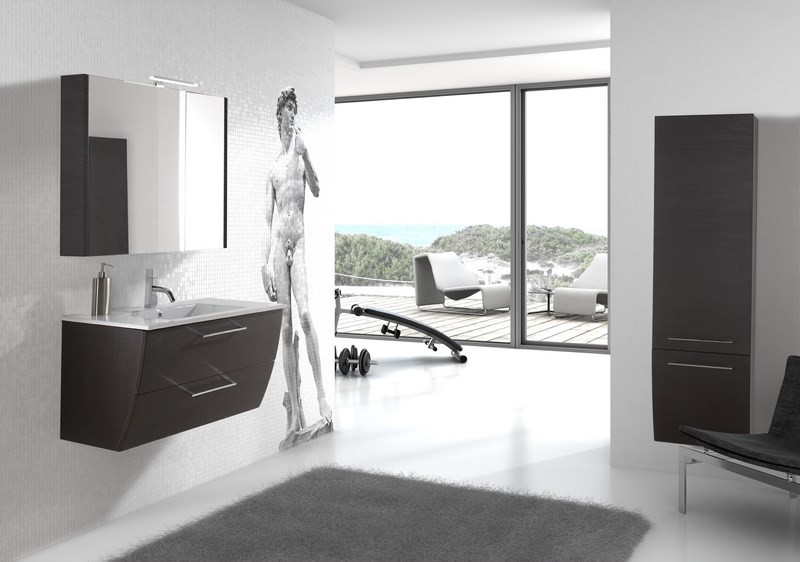 Meuble salle de bain design collection downtown marque for Marque meuble design